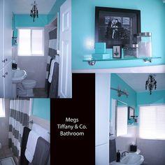 Tiffany & Co. Inspired bathroom.