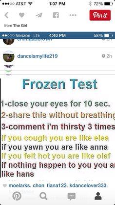 Frozen test