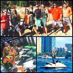 """60 mile jet ski adventure with these crazy cats the other day. Funny stuff. #foofighters #jetski #SurfersParadise #slieyefilms #taylorhawkins #davegrohl #riverrats by steven chew """