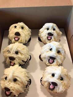 How can you possibly eat these amazing cupcakes? Puppy Cupcakes, Puppy Cake, Animal Cupcakes, Fake Cupcakes, Beautiful Cakes, Amazing Cakes, Puppy Birthday, Crazy Cakes, Cake Decorating Techniques