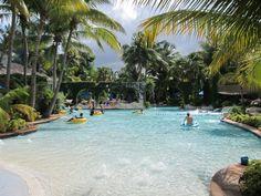 Pool/Lazy River/Water Slide/Swim Up Bar At The Hilton Rose Hall Resort Montego Bay,  Jamaica...November 2011