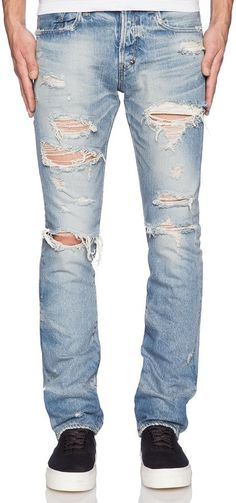 $600, Japan Demon Fit Destroyed Jean by PRPS. Sold by Revolve Clothing. Click for more info: http://lookastic.com/men/shop_items/174378/redirect