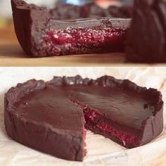 I am such a chocolate addict.. this time chocolate tart and red current filling