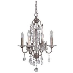 Found it at Wayfair - Adorned 4 Light Crystal Chandelier