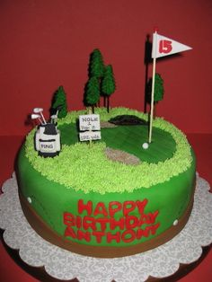 Golf Course Birthday Cake