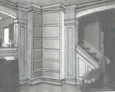 Built-in Corner Bookshelf Plans remodelaholic.com #building #plans #bookcase #bookshelf