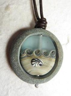 Cape Cod beach stone jewelry by KEM Designs – Beach glass jewelry Rock Jewelry, Funky Jewelry, Shell Jewelry, Beach Jewelry, Sea Glass Jewelry, Stone Jewelry, Jewelry Crafts, Jewelry Art, Pendant Jewelry