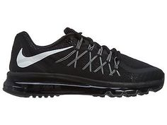 Nike Air Max 2015 Mens 698902-001 Black Running Shoes Athletic Sneakers Size 13