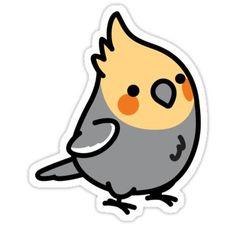 Chubby Cockatiel  Sticker