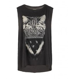 ALLSAINTS Cat Tank--except I need Sir's face instead