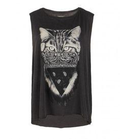 Nine Lives Vest, Women, Graphic T-Shirts, AllSaints Spitalfields