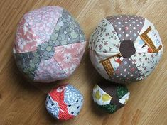 How to make a simple patchwork ball.  Use up scraps and make them for your Operation Christmas Child shoebox gifts!