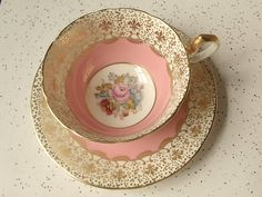 vintage tea cups for Melody Couleur Rose Pastel, Vintage Cups, Vintage China, Teapots And Cups, Teacups, China Tea Cups, My Cup Of Tea, Tea Cup Saucer, High Tea
