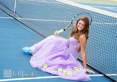 Senior pic idea Tennis prom dress photo by Beth Forester Photography