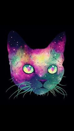 space cat wallpaper by AskingAA - ab - Free on ZEDGE™ Wallpaper Gatos, Cat Wallpaper, Space Cat, Illustrations, Art And Illustration, Hipster Vintage, Video Chat, Galaxy Cat, Devon Rex