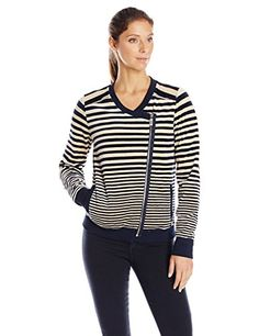 Calvin Klein Performance Women's Variegated Stripe Velour Jacket ** Check this awesome item by going to the link at the image.