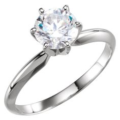 14kt white round shape engagement ring. Find it at a jeweler near you: www.stuller.com/locateajeweler #bestseller #engagement