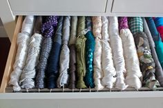 t-shirt drawer organization from http://www.alittlebiteofeverything.com/2011/10/t-shirt-filing-system/