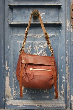Brown Leather Messenger Bag Womens Magpie by MagpieAccessoriesUK