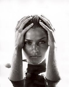 Helena Christensen, Los Angeles, 1990 by Herb Ritts Helena Christensen, Water Photography, Portrait Photography, Fashion Photography, Urban Photography, People Photography, Mario Testino, Terry Richardson, Cindy Crawford