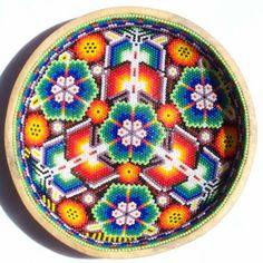 Beaded gourd bowl