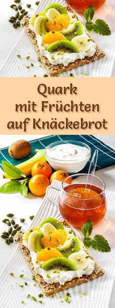 Rezept Quark mit Früchten auf Knäckebrot mit viel Eiweiß - und weitere leckere Magerquark-Rezepte zum Abnehmen ...