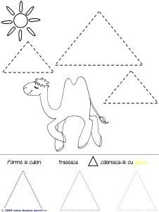 Triangle worksheets and coloring pages pays arabes Shape Worksheets For Preschool, Free Preschool, Preschool Printables, Preschool Crafts, Teacher Worksheets, Daycare Crafts, Subtraction Kindergarten, Kindergarten Activities, Shape Coloring Pages