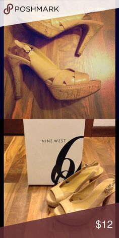 Nine West Heels Size 7.5 These nude heels by Nine West would be a great addition to any wardrobe! They are in excellent used condition, only worn a couple times. Go great with dresses, dressy shorts, or even skinny jeans. The heel is approx. 2 inches. Nine West Shoes Heels