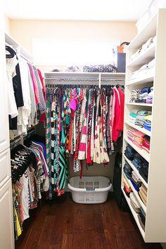 Dream Walk-in Closet Makeover (Diy Closet Makeover) Small Master Closet, Master Bedroom Closet, Kid Closet, Diy Bedroom, Bedroom Ideas, Small Closets, Small Closet Storage, Pantry Closet, Wardrobe Storage