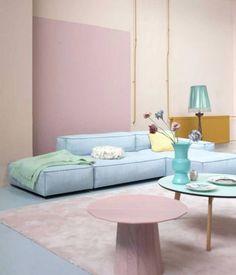 Pastel Living Room, Pastel Room, Paint Colors For Living Room, Deco Pastel, Pastel Decor, Decor Room, Living Room Decor, Living Area, Living Spaces