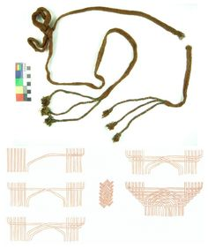 Techniques Textiles, Tablet Weaving, African Trade Beads, Clothing And Textile, Viking Age, Medieval Clothing, Plaits, Vikings, Bobby Pins