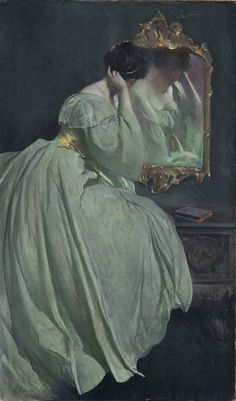 Lady Before the Mirror. John White Alexander (American, 1856-1915). Oil on canvas. Odessa Museum.