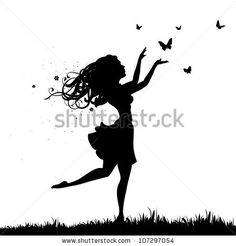 girl with butterflies by vilisow, via Shutterstock