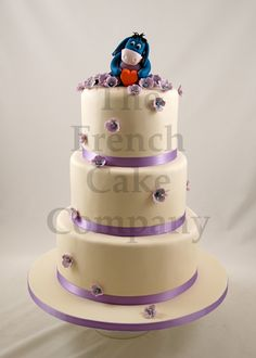 Wedding Cake Mauve Flowers - Piece Montee Mariage Fleurs Mauve - Bruidstaart