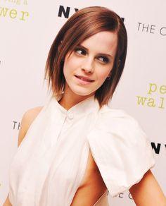 Emma Watson Layered Razor Cut    Emma Watson's short hair has edgy layers that give it a high-fashion look.