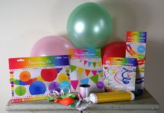 Multi Coloured Summer Party Decoration Pack Bunting Balloons Garlands Ribbon