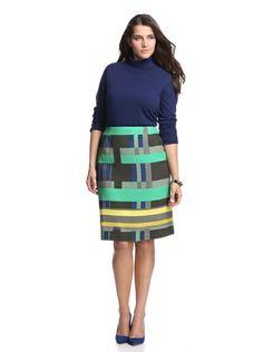 Lafayette 148 New York Women's Modern Slim Skirt (Spectrum Multi)