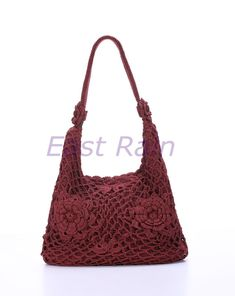 crochet bag crochet flower handmade crochet handbag tote purse shoulder bag fall fashion mom gift party bag new year personalized baag adult