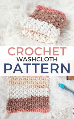 Simple Crochet Washcloth Pattern - Free Crochet Pattern for a beginner friendly pattern by Rescued Paw Designs