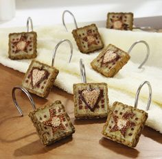 Hearts And Stars Country Shower Hooks