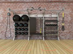 Get inspired! See conceptual Gym Rax configurations and our featured systems in action! Trx Gym, Crossfit Gym, Home Gym Garage, Gym Room At Home, Massage Therapy Rooms, Dream Gym, Medical Office Design, Gym Interior, Home Gym Design