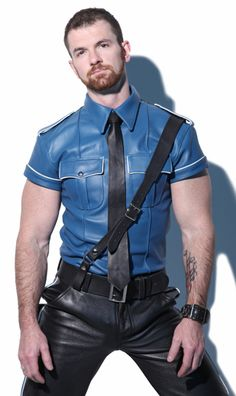 Woody. Great blue leather uniform shirt!