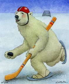 got puck. by Will Bullas Painting by Will Bullas - got puck. by Will Bullas Fine Art Prints and Posters for Sale Polar Bear Images, Polar Bears, Coaster Art, Fine Art Prints, Canvas Prints, Bear Illustration, Dog Years, Lonely Heart, Sale Poster