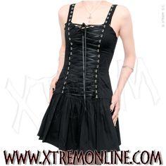 Vestido gótico con lazo cruzado.