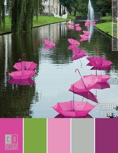 Umbrella River | Color Blocks Design