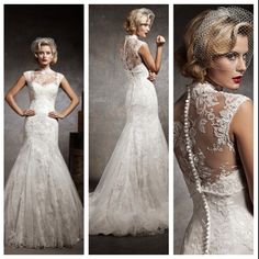 If we re-newed our vows, this would be the dress. Dress of MY dreams.