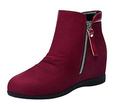 camping kitchen chuck box - T&Mates Women's Spring Autumn Side-Zipper High Increase within Microfiber Ankle Booties B(M)US,Red) *** Check out this great product. (This is an affiliate link) Red Boots, Snow Boots, Camping Jokes, Camping Tricks, Hiking Sandals, Ankle Booties, Fashion Brands, Topshop, Booty
