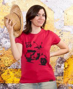 Ladies Vintage Tshirt Vespa Spirit Sister Gift Mom by store365