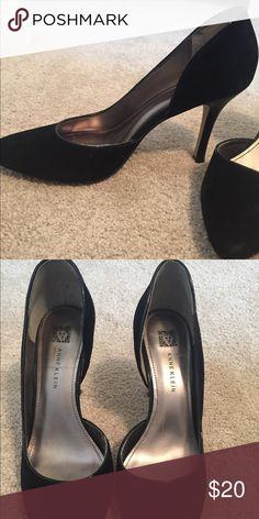 Anne Klein black suede pumps Wore once Anne Klein Shoes Heels