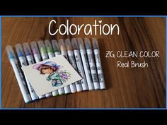 Coloration | Whiff of joy | ZIG Clean Color Real Brush - YouTube